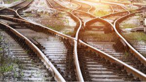 Bahngleise Entscheidung Weg 16:9